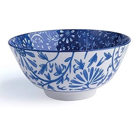 Bolo orientale in porcellana diametro 16 cm , fiori blu Excelsa